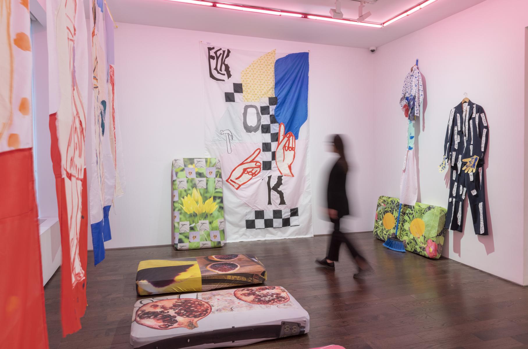 Exhibition View, Sadie Laska & Sara Magenheimer, LuLLabIES, 2021, Ceysson & Bénétière New York
